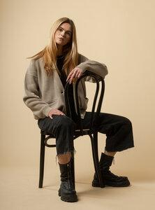 Damen Cardigan ARTHA aus Bio-Baumwolle - GOTS zertifiziert - MELAWEAR