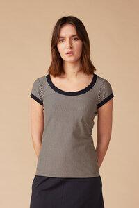 Kurzarm Shirt gestreift für Damen - Rachelle - Lana natural wear