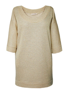 SPARKLE Sweatshirt-Kleid - beige - woodlike