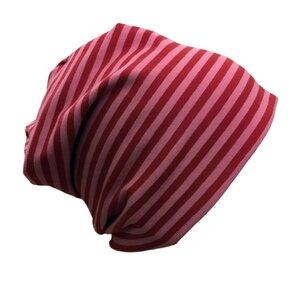"Mütze ""Line"" rosa geringelt - bingabonga"