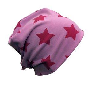 "Mütze ""Line"" rosa Sterne - bingabonga"