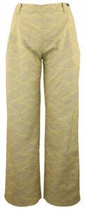 Hose gerade geschnitten grau-gelb - anzüglich organic & fair