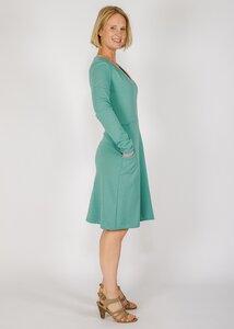 Winterkleid mit Taschen - Green Size