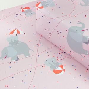 Geschenkpapier Circus Elephants - Bow & Hummingbird