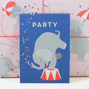 Postkarte Party - Bow & Hummingbird