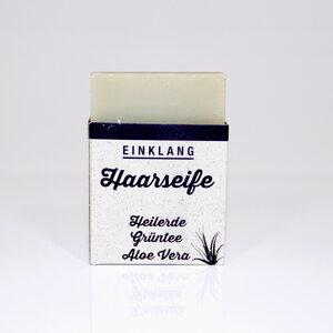 Haarseife Heilerde Grüntee - Aloe Vera 100 g - Himmelgrün