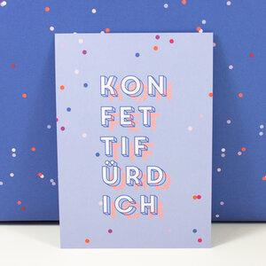 Postkarte Konfetti für Dich - Bow & Hummingbird