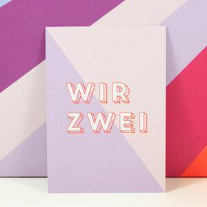 Postkarte Wir Zwei - Bow & Hummingbird