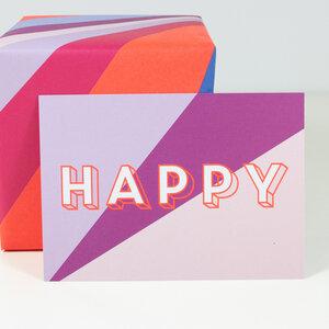 Postkarte Happy - Bow & Hummingbird