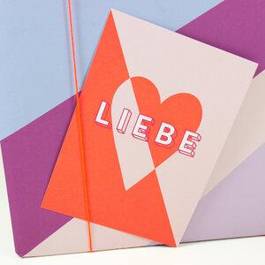Postkarte Liebe - Bow & Hummingbird