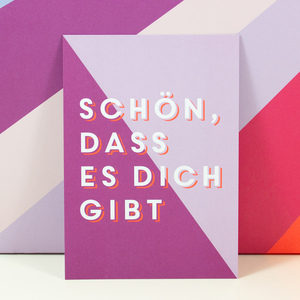 """Postkarte """"Schön, dass es Dich gibt"""" - Bow & Hummingbird"""