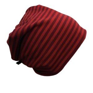 Mütze 'Line' rot/rot geringelt - bingabonga