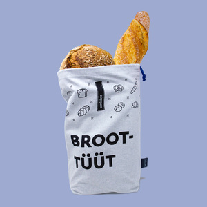 Brotbeutel aus Recyling Bio Baumwolle / plastikfrei / made in Germany - umtüten