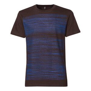ThokkThokk Strokes T-Shirt blue/chocolate - THOKKTHOKK