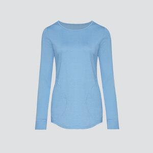 Fairtrade Shirt langarm, bleu - comazo|earth