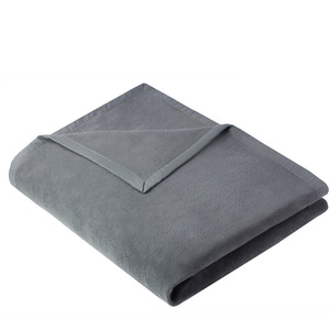 Wohndecke Kuscheldecke OLE 150x200cm aus 100% Baumwolle (kbA) in Grau - NATUREHOME