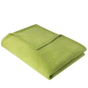 Wohndecke Kuscheldecke OLE 150x200cm aus 100% Baumwolle (kbA) Moosgrün - NATUREHOME