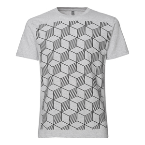 ThokkThokk Sashiko Herren T-Shirt Black/Melange - THOKKTHOKK
