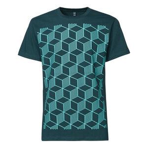 ThokkThokk Sashiko Herren T-Shirt Mint/deep teal - THOKKTHOKK