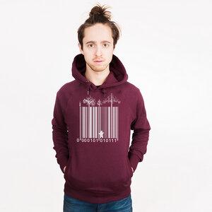 Barcode Cage - Männerhoodie aus Bio-Baumwolle - Coromandel