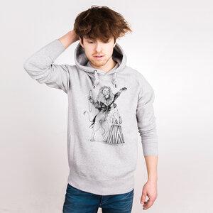 Circus Lion - Männerhoodie aus Bio-Baumwolle - Coromandel
