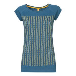 ThokkThokk Strings Cap Sleeve Damen T-Shirt Blue & Yellow/Denim - THOKKTHOKK