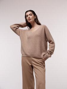 Pullover mit V-Ausschnitt aus Kaschmir  - LANIUS