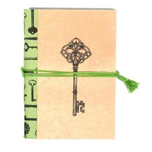 Vintage 'Schlüssel' Notizbuch mit Verchluss - Kalakosh