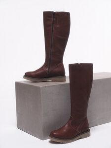 Flacher Stiefel aus Leder - LANIUS