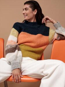 Pullover mit Colourblock aus Alpakawolle mit Polyamid  - LANIUS