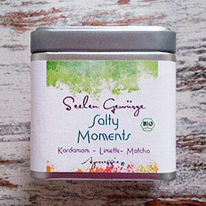 Salty Moments 'Kardamom-Limette-Matcha' Bio, 150 g Dose - Ayurveggie® Seelengewürze