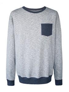 MESSENGER Sweatshirt - grau-blau meliert - woodlike