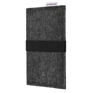 Handyhülle AVEIRO für Samsung Galaxy A-Serie - VEGANer Filz - anthrazit - flat design by Mareike Kriesten