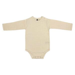 Baby Body Langarm/Unisex/Beige/100% Organische Baumwolle - Caico Cotton