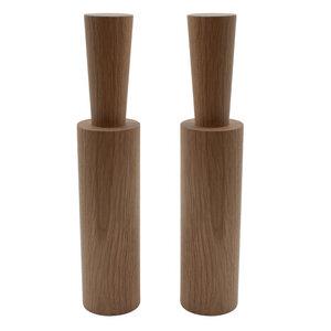 2er-Set Salz- und Pfeffermühle mit Porzellanmahlwerk | hoch - 4betterdays