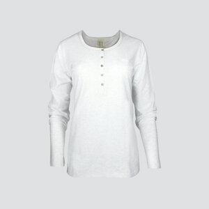 Fairtrade langarm Shirt in ecru-melange - comazo earth