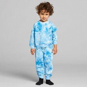Kinder Jogginghose Tomelilla aus Biobaumwolle - Batik Blau Weiß - DEDICATED