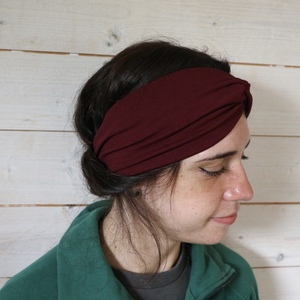 Veganes denkefair Stirnband Unifarben JERSEY - denkefair