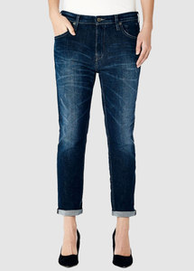 Jenna Boyfriend Crincle Blue Jeans - Kuyichi