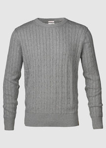 Cable Knit - GOTS Grey Melange - KnowledgeCotton Apparel