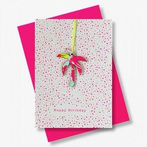 Briefkarte Happy Birthday Palme - Just Be