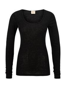 Langarmshirt schwarz - People Wear Organic