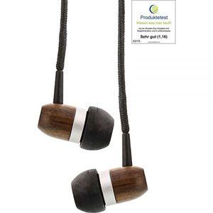Woodin-Ear Kopfhörer mit Funktionstasten und Mikrofon  - InLine