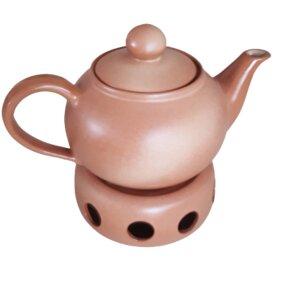 Teekanne 1 Liter und Teelicht - Stövchen im Set - ReineNatur