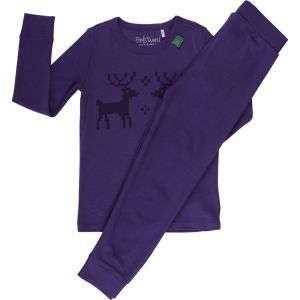 Woll-Pyjama Rentier Violett GOTS - Fred's World by Green Cotton