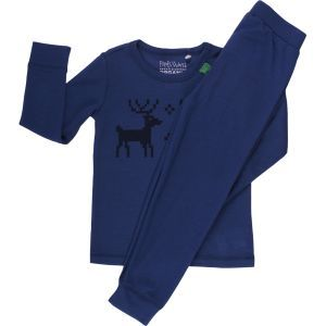 Woll-Pyjama Rentier Marine GOTS - Fred's World by Green Cotton