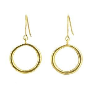 Ohrringe Magena gold, 925er Silber vergoldet - Mitienda Shop