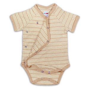 Baby Bio Wickelbody Kurzarm Ringeloptik Ungefärbt 0-12 Monate - Chill n Feel