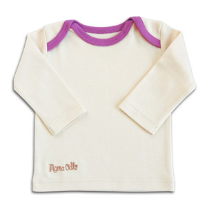 Pima Langarm-Shirt, beige/lila - Mama Ocllo