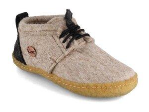 Kinder Barfuß-Hausschuhe mit outdoor Sohle  - aus 100% natürlicher Wolle mit Naturkautschuksohle, Gr. 25-35 - WoolFit